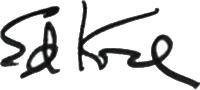Ed Koch's signature