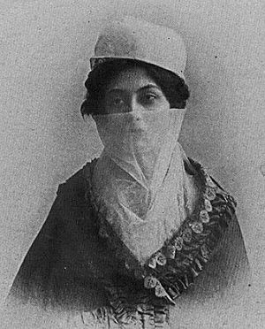 Halide Edib Adıvar - Early photo of Halide Edib wearing a yashmak.