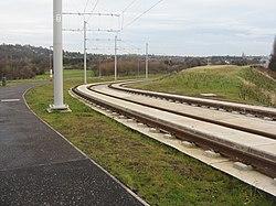 Edinburgh tramway at Carrick Knowe (geograph 3765535).jpg