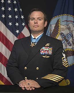 Edward Byers United States Navy SEAL who received the Medal of Honor