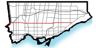 road in Toronto, Canada