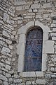 Eglise St-Martin de Lavilledieu - vitrail abside.JPG
