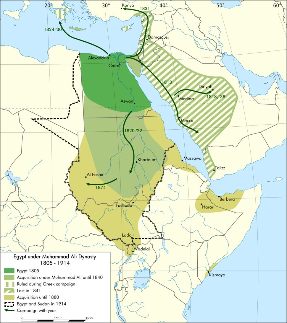 Egypt under Muhammad Ali Dynasty map en