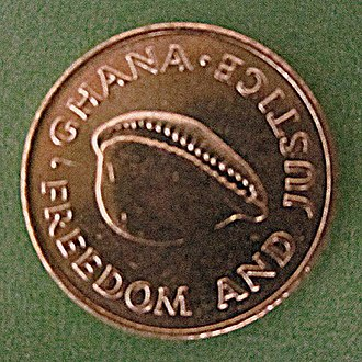 Ghanaian cedi - Cedi with a cowry.