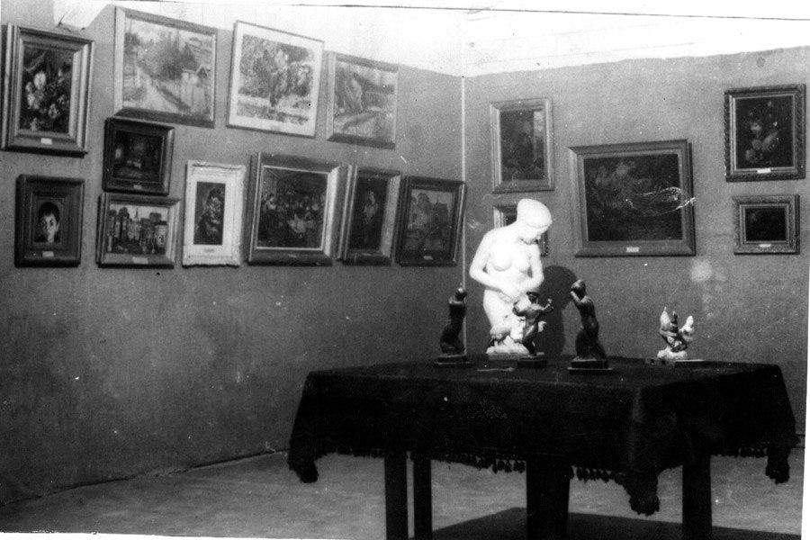 Ein Harod Museum old hut interior circa 1940