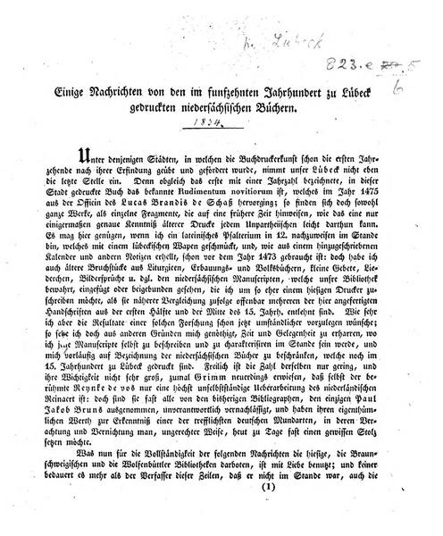 File:Einige Nachrichten von den im 15ten Jh. zu Lübeck gedruckten niedersächsischen Büchern..pdf