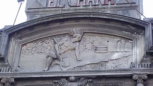 Chaná - Artistic depiction of a Chaná on a building in Montevideo.