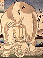 Elephant detail, Kuniyoshi Utagawa, Thaishun with elephants (cropped).jpg