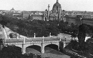 Karlsplatz - Elisabethbrücke um 1895