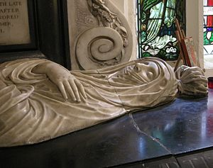 Elizabeth Carey, Lady Berkeley - Elizabeth, Lady Berkeley's tomb effigy by Nicholas Stone, in St Dunstan's church, Cranford, Middlesex