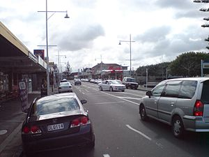 Ellerslie, New Zealand - Ellerslie town centre from the east