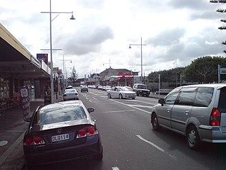 Ellerslie, New Zealand - Ellerslie town centre from the east