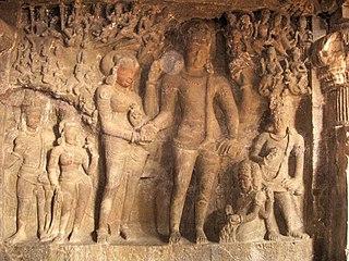 Kalyanasundara iconographical depiction of the wedding of the Hindu deities Shiva and Parvati