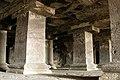 Ellora Caves, India, Nandi Mandapa hall, Basalt columns, Cave 15.jpg