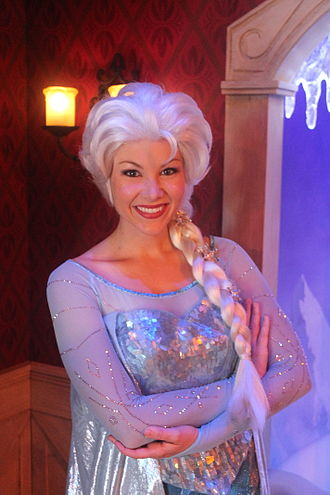 Elsa (Disney) - Elsa meet-and-greet at Disneyland in California in 2013.