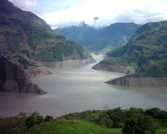 Chivor - Image: Embalse la Esmeralda, Macanal Colombia