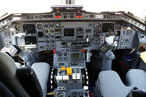 Science and technology in Brazil - Internal view of Embraer 120 airplane produced in the city of São José dos Campos.
