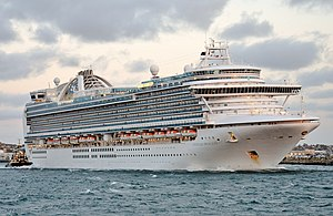 Emerald Princess in Fremantle 2016.