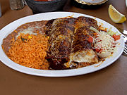 Enchiladas with mole sauce in Old Town San Diego