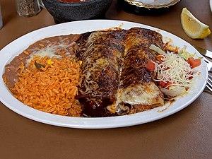 Enchilada - Image: Enchilada Rice Beans