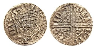 History of the English penny (1154–1485) - Example of the new Long cross penny with bust of Henry III.