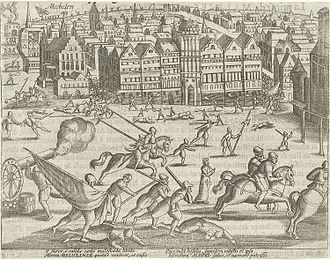 John Norris (soldier) - The English fury on the Grote Markt in Mechelen, 1580