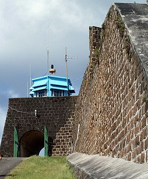 Fort Charlotte, Saint Vincent - Entrance to Fort Charlotte