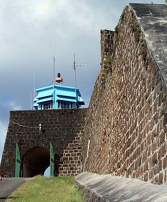 Fort Charlotte, Saint Vincent - Entrance to Fort Charlotte