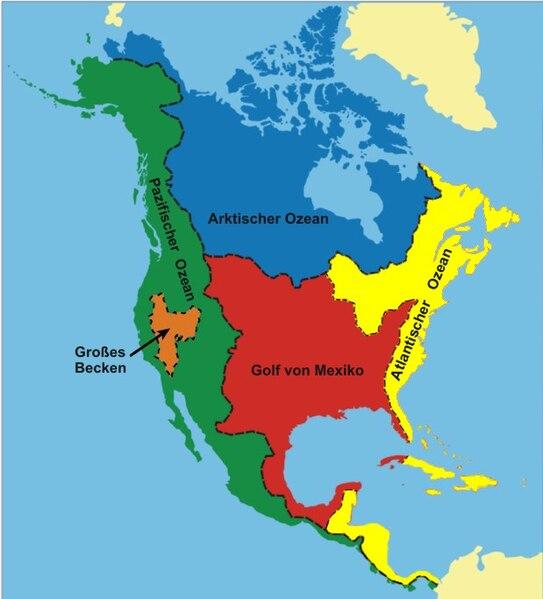 topographie nordamerika