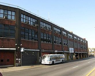 Jamaica Avenue - East New York bus depot on Jamaica Avenue