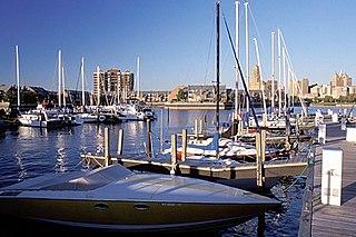 Erie Basin Marina Municipal inland harbor in Buffalo, NY
