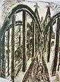 Ernst Ludwig Kirchner Rheinbrücke in Köln 1914 lithograph.jpg