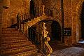 Escalera de acceso al Monasterio desde la Iglesia de Santa María de Oya (15807315587).jpg