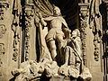 Escultura de San Fernando en la fachada barroca del Museo de Historia de Madrid.JPG