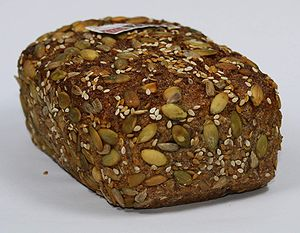 Sprouted bread - Image: Essene Bread 70pct Rye Sproud 30pct Spelt