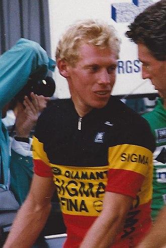 Etienne De Wilde - De Wilde in 1988, wearing the Belgian national road race champions jersey