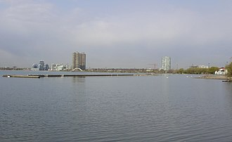 Etobicoke - A view of Etobicoke from Budapest Park, looking west across Humber Bay.