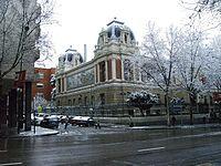 ETS de Ingeniería de Minas. Las nevadas en Madrid son ocasionales y se producen todas ellas en invierno.