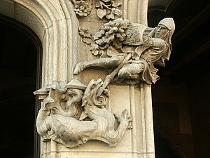Saint George and the Dragon at Casa Amatller