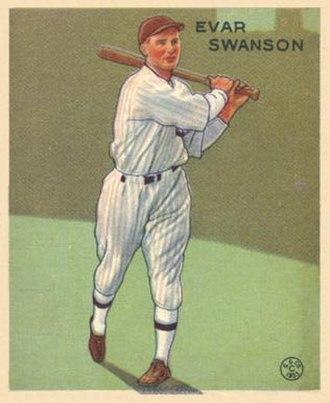 Evar Swanson - Evar Swanson 1933 Goudey baseball card