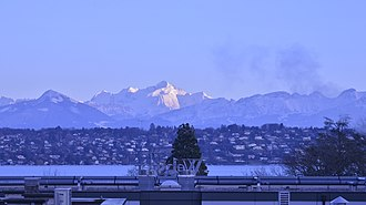Webster University Geneva - Image: Evening View of the Mont Blanc from Webster Geneva Campus