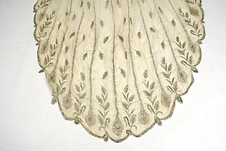 Textile arts of Bangladesh - Silver-embroidered muslin