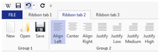 Ribbon (computing) - Example of a ribbon, an element of graphical user interfaces