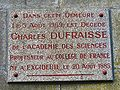 Excideuil Ch Dufraisse plaque.JPG