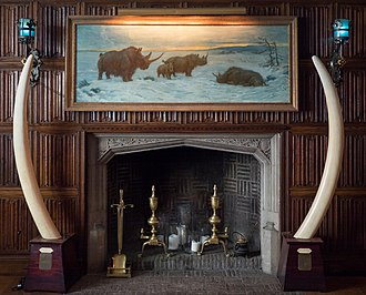 The Explorers Club - First floor fireplace