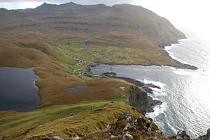 Suðuroy - Fámjin is surrounded by some of the highest mountains of Suðuroy