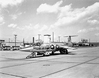 134th Air Refueling Wing - An F-104A in the early 1960s.