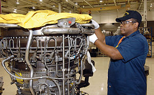 Tinker Air Force Base - Image: F 108 Engine Maintence for KC 135 Stratotankers T Inker Air Logistics Center