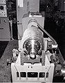 FACILITY COMPRESSOR NO. 2 - HIGH PRESSURE FACILITY HPF - ROTOR IN BALANCING MACHINE - NARA - 17447455.jpg