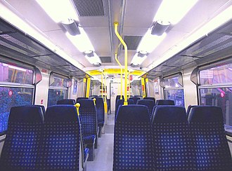 British Rail Class 313 - The refreshed interior of a First Capital Connect Class 313
